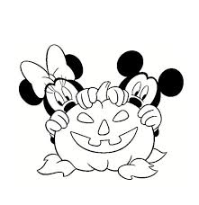 mickey minnie disney halloween coloring pages disney