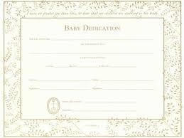 baby dedication certificate template blank award certificate