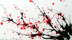 how to paint a cherry blossom tree in watercolor splatter and