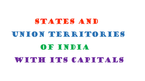 State Capitals Map Indian States And Capitals Including Union Territories Latest