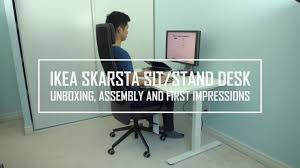 Stand Desk Ikea by Ikea Skarsta Bekant Alternative Sit Stand Desk Unboxing Assembly