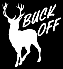 deer buck off hunting fishing rack horns whitetail truck window