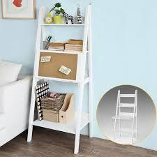 bureau echelle sobuy frg115 w bureau table étagère murale style échelle de 3