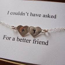 best friend gift ideas initial bracelet initials and bracelets