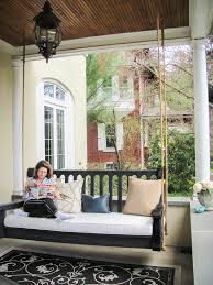 porch swing cushions spaces modern with custom cushions custom