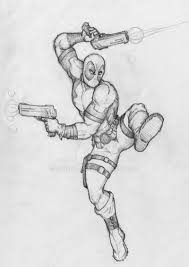deadpool initial character pencil sketch by cauldron03 on deviantart