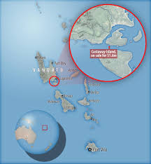Vanuatu Map South Pacific Castaway Island For Sale For 1 2m Daily Mail Online