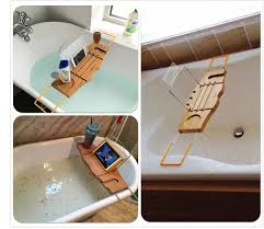 Tray For Bathtub Bamboo Bath Bridge Bathtub Rack Shelf Tray Yi Bamboo Bamboo