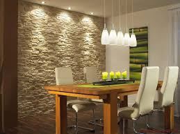 esszimmer gestalten wände essbereich gestalten steinwand bequem on moderne deko idee oder