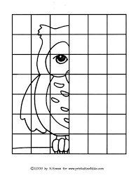 7 best images of worksheets complete the drawing owl mirror