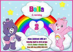 super cute care bears 3rd birthday party invitation recent work