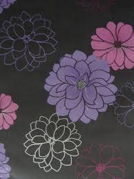 modern floral wallpaper black charcoal purple floral wallpaper melbourne modern flowers