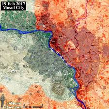 Map Iraq Map Of Current Situation Of The Battle Of Mosul Red U003diraq Gov