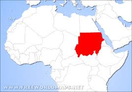 where is on the map where is sudan located on the map