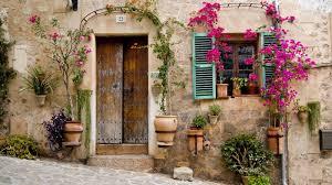 front door house beautiful front door house mallorcaflowers pots wallpaper hd