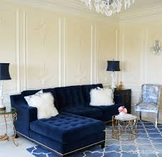 new living rooms navy blue tufted sofa cre8tive designs inc