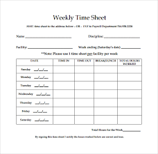 weekly timesheet template 13 free download in pdf