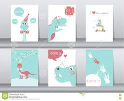 set of birthday cards poster template greeting cards sweet