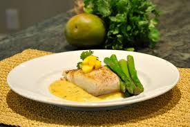 Beurre Blanc Sauce Recipe by Pan Seared Halibut With Mango And Cilantro Buerre Blanc Sauce