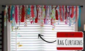 Tied Rag Rug No Sew Rag Curtains Youtube