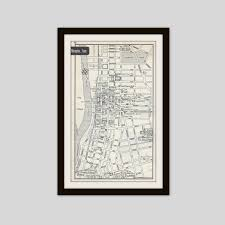 Tennessee Cities Map by Memphis Tennessee Map City Map Street Map 1950s Black And