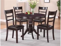 2620 set rosa 5 pk wood dinette set espresso color round