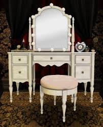 Mirror Vanity Furniture Vanity Table With Mirror And Lights Foter