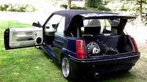 1985 renault alliance convertible renault 5 r5 umbau mega hammer sound youtube
