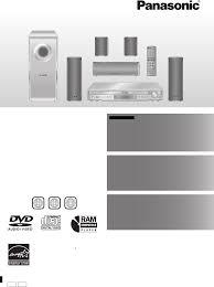 panasonic dvd home theater sound system panasonic home theater system sc ht440 user guide manualsonline com
