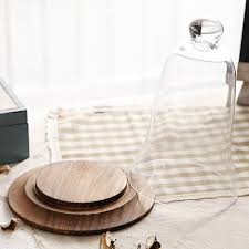 table ornaments bell glass jar with wooden holder empty glass lid