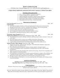 Sample Resume For Truck Driver Examples Of Resumes Resume Sample For Medical Transcriptionist