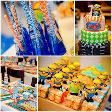 Despicable Me Decorations Kara U0027s Party Ideas Despicable Me 2 Party Planning Ideas Supplies
