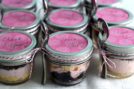 wedding cake jars cupcake in a jar