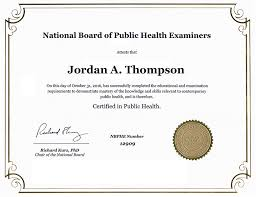 certificate frame national board of health examiners dimensions certificate