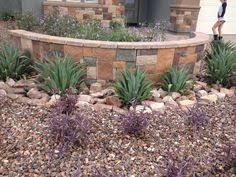 Desert Backyard Ideas Arizona Desert Front Yard Xeriscaping Idea With A Fake Dry Stream