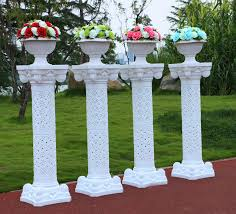 wedding arches and columns wholesale wedding decorative plastic column height adjustable flower