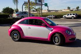 volkswagen beetle pink vw beetle wrapped in ultra metallic pink vinyl
