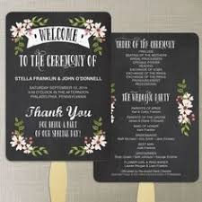 chalkboard wedding program template printable customized wedding program fan vintage shabby chic