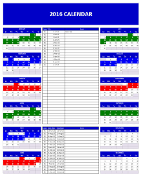 Excel Monthly Planner Template 2016 Calendars Excel Templates