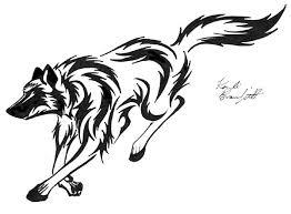 running tribal wolf by waddygigger on deviantart