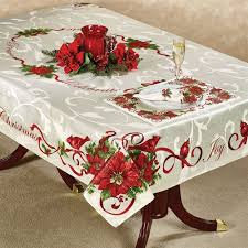 christmas tablecloth outstanding christmas cardinals table linens pertaining to