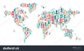 Map Of Tge World by Map World Made Plenty People Silhouettes Stock Vector 617887955
