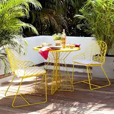 metal patio chairs and table lovely yellow metal outdoor table 25 best ideas about painted yellow
