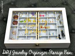necklace storage organizer images Diy jewelry organizer storage box tutorial consumer crafts jpg