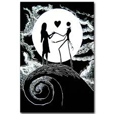 The Nightmare Before Christmas Home Decor The Nightmare Before Christmas Art Silk Poster Print 13x20 24x36
