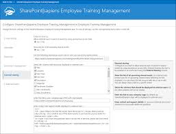 employee training management for office 365 configuration