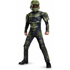halo master chief classic muscle child dress up halloween