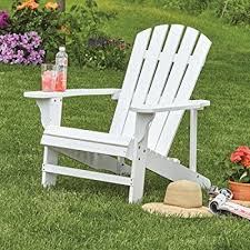 Adirondack Bench Amazon Com Classic White Painted Wood Adirondack Chair Chaise