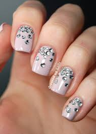 Rhinestone Nail Design Ideas 92 Best Tips Manicura De Novia Wedding Bridal Nails Images On