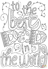 to the best dad in the world coloring page free printable